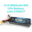 ZYE 11.1V 5200mAh (Continuous 60C) LiPo Battery, XT60H-F Connector