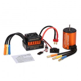 GoolRC Upgrade Waterproof 3650 4300KV Brushless Motor with 60A ESC Combo Set for 1/10th scale RC Car or Truck