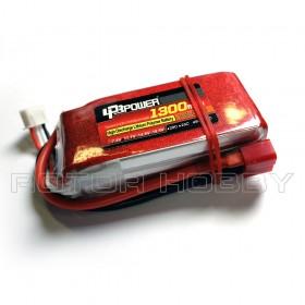 11.1V 1300mAh LiPo Battery, 45C, T Plug
