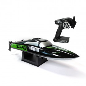 Vector SR48 Auto-roll-back Brushless Speedboat BLACK 48cm RTR