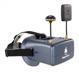 VR008 Pro 5.8G 40CH Dual Receiver Double Antenna FPV Goggles