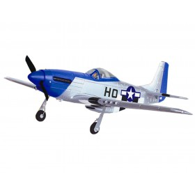 P51D Mustang 4 Channel Beginner RC Airplane 6-axis Gyro system & Rear Pusher Mode 2 RTF Volantex 768-1