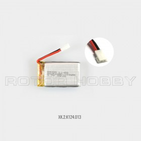 3.7V 700mAh LiPo Battery with White Plug for K124 helicopter