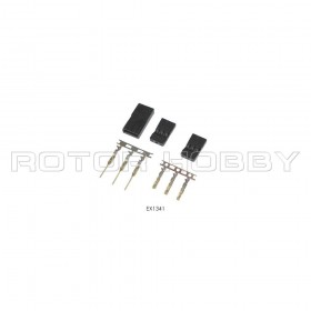 Hitec / JR Connector, gold plated terminals, Housing and Pins