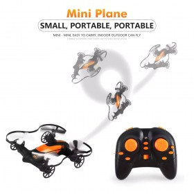 TKKJ TK115 2.4G 4-Channel Mini Fly Car 2 in 1 RC Drone Altitude Hold Quadcopter, Black & Orange, Ready-to-Fly, RTF, Mode 2