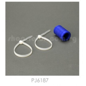 PJ6187 THUNDER TIGER Muffler Adaptor (Blue) (Length: 4.2cm) for [5213] Outlaw 7.5