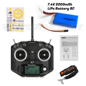With LiPo Battery, Taranis Q X7 16CH Transmitter Remote Controller