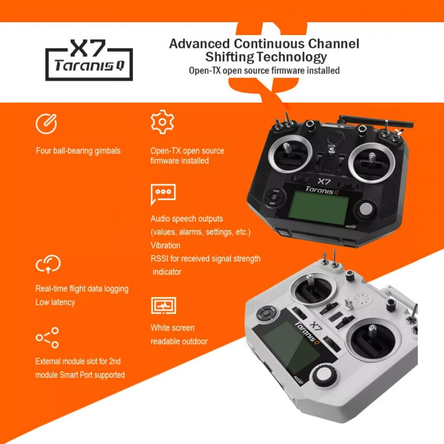With LiPo Battery, Taranis Q X7 16CH Transmitter Remote