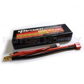 7.4V 6500mAh LiPo Battery, 60C, T Plug
