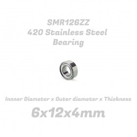 6x12x4mm 420 Stainless Steel Bearing