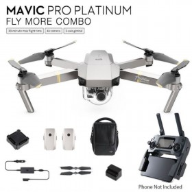 Total 3 Batteries, DJI Mavic Pro PLATINUM Fly More Combo with Remote Controller