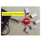 [Charge up to 5 cells simultaneously] 5 * 1S 3.7V LiPo Battery Charger with USB Connector, Battery not included
