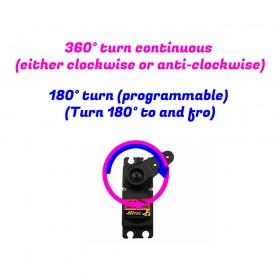 180° or 360° Servo Rotation Modification