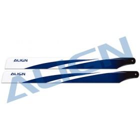 380 Carbon Fiber Blades - Blue for T-REX 470L