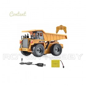 6 Channel 2.4G 1/18th scale RC Dump Truck