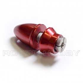 3x6mm Propeller Adapter, Extrusion Fastening, Red