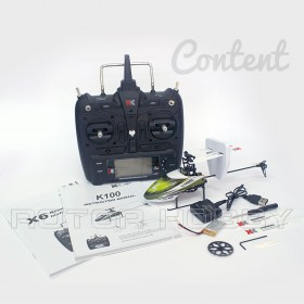 2.4G 6-Channel 3D6G Falcon K100 Coreless Electric Helicopter Set with X6 Transmitter, Ready-to-Fly, RTF