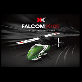 2.4G 6-Channel 3D6G Falcon K100 Coreless Electric Helicopter Set with X6 Transmitter, Bind-and-Fly, BNF