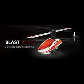 2.4G 6-Channel 3D6G Blast K110 Brushless Flybarless RC Electric Helicopter Set, Bind-and-Fly, BNF