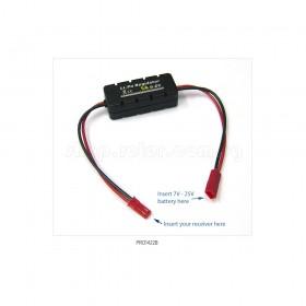 LiPo Battery Regulator, 5A with Casing with JST connector | Input voltage 7V-25V, Output 6V