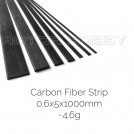 Carbon Fibre Strip 0.6x5x1000mm