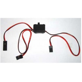 "PN57215S Hitec Standard Switch Harness with Receiver (Rx) charger cord, for Hitec / JR ""S"""