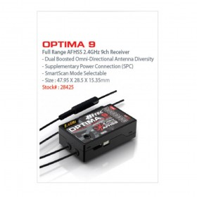 Hitec OPTIMA 9 2.4Ghz AFHSS Telemetric 9-Channel Full Range Aircraft Receiver