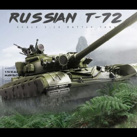 MS Upgrade Version, Russian T-72 Smoking RC Battle Tank 1/16th scale