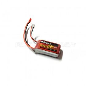 7.4V 850mAh 25C LiPo Battery, JST plug, 50g