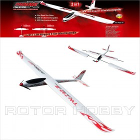 Phoenix Evolution X 2.6M Electric Giant Size Glider, EPO with 2-in-1 Interchangeable Wings