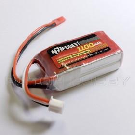 7.4V 1100mAh 25C LiPo Battery, JST plug
