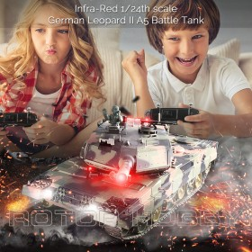 Heng Long 1/24 scale German Leopard II A5 RC Airsoft Infra-red Battle Tank with 2.4G Transmitter