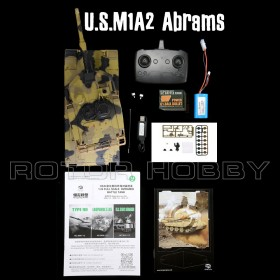 Heng Long 1/24 scale U.S. M1A2 RC Airsoft Infra-red Battle Tank with 2.4G Transmitter