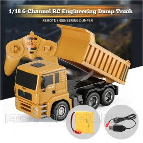 Huina 1/18th scale 6-Channel Remote Dump Truck, Ready-to-run. Buy or Sold in Singapore.