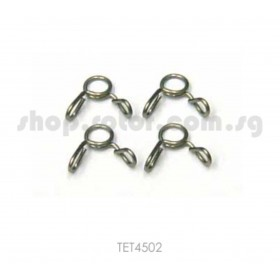 TETTRA No.4502 Tube Clip S (diameter 3mm) (4pcs), stainless