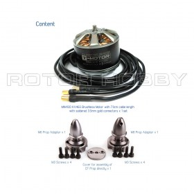 [NETT] MN4120 465KV Brushless Motor for Multi-copter (4-8s) with 73cm cable length and soldered 3.5mm gold connector