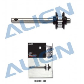 H60T001XXT ALIGN Metal Belt Drive Tail Rotor Shaft Assembly, for T-REX 600 (For H60253T 600 Tail Belt Unit)