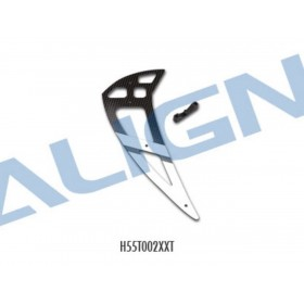 H55T002XXT ALIGN 550L Carbon Vertical Stabilizer - White, for T-REX 550/600