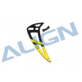 H70T006XXT ALIGN 700E Pro Carbon Vertical Stabilizer, Yellow