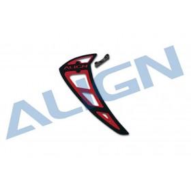H80T014XAT ALIGN 800E PRO Vertical Stabilizer, Red-Black, for T-REX 700E/700N/800E