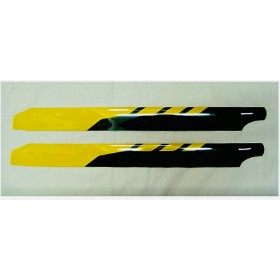 H7001C FUN-KEY ROTOR TECH 60-91 & UP Class Precisely Balanced Carbon Fiber Composite Main Rotor Blades, L: 700mm