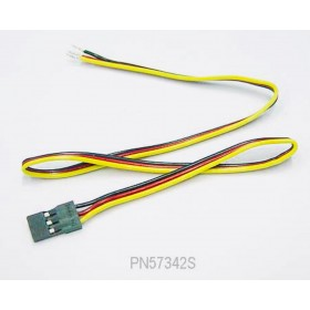 "PN57342S 9"" (228mm) Male Servo/Battery Wire, for Hitec / JR #57342S"