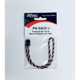 "PN54607J 12"" (304mm) Twisted Heavy Duty Servo Connector (Gold Pin), for Futaba ""J"" type / #54607J"