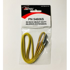 "PN54606S 36"" (914mm) Heavy Duty Servo / Aileron Extension wire (Gold Pin Connector), for Hitec / JR #54606S"