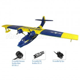 Catalina PBY Seaplane Electric EPO Airplane, Blue/Grey, PNP