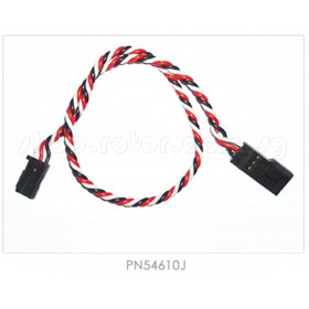 """PN54610J 12"""" (304mm) Twisted Extension Wire (Gold Pin Connector), for Futaba #54610J"""