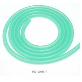 EX1088-2  EXCELLENCE Silicone Fuel Tube, Length 1 Metre (Outer Dia. 5.0mm, Inner Dia. 2.5mm - Translucent Green)