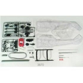 3870 THUNDER TIGER AH-1W Super Cobra Fuselage Conversion Kit (Clear & Unpainted), for mini Titan E325 / Pro
