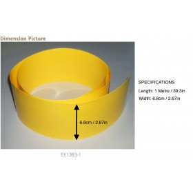EX1383-1 EXCELLENCE Shrink Tube for battery, 6.8cm x 1Metre, Yellow
