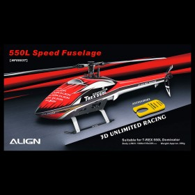 Align 550L Speed Fuselage - Red & White for T-REX 550L
